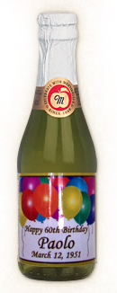 Personalized Non Alchoholic Champagne