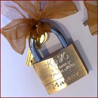Engraved Paris Love Locks