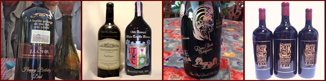 Los Angeles Engraved Wine Bottles