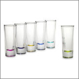 Cloroed or Clear Shot Glass Set