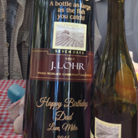 Large Bottle Wine Engraving