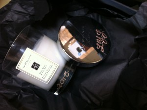 Jo Malone London on-site engraving