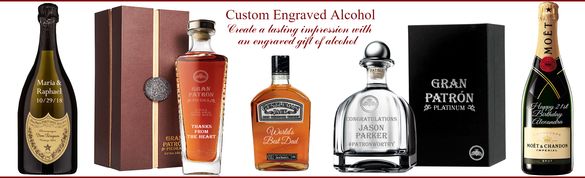 Engraved Alcohol, Wine & Champagne